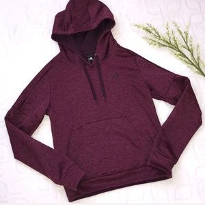 ADIDAS Marled Purple Athletic Hoodie Sweatshirt XS